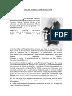 Ensayo Sobre Francisco Garcia Calderon