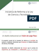 Iniciativa a la Reforma de la Ley de Ciencia y Tecnología