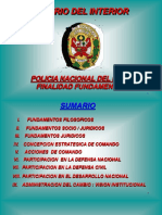 Policia Nacional Del Peru, Finalidad Fundamental