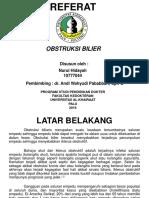 Ppt Referat Obstrksi Bilier