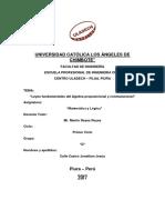 Leyes Fundamentales Del Álgebra Proposicional y Conmutacional
