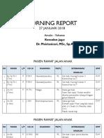 Morning Report 27-01-18