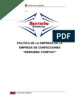 Politica de La Empresa