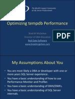 Optimizing Tempdb Performance