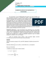 Elementos Básicos de Matemática Financeira