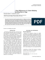 Barlett -Meta-Analysis of Sex Differences in Cyber-bullying