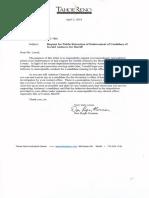 Don Roger Norman Letter to Laxalt Re Endorsement Signed