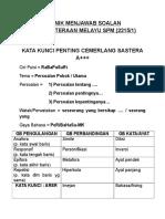 Teknik Menjawab Soalan Kesusasteraan Melayu Spm