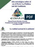 Manuel Bernales Politica Nacional Del Ambiente