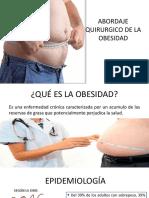 Abordaje Quirurgico de La Obesidad