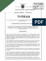 Decreto 349 Del 20 Febrero de 2018