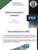 Hidrometalurgia II Unidad II