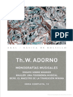 Adorno Theodor W - Monografias Musicales