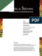 Paleta de Sabores - Bolivia