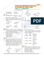 JEE Main 2018 Chemistry Code C Paper Solution Paper 1
