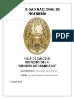TERCER INFORME - CHANCADO