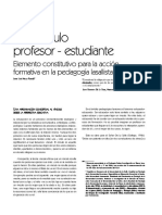 El Vinculo Entre el Profesor y el Estudiante