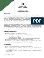 Fondaparinux Guidelines 1