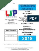 Form Apl-01. Perekayasa Trafik Junior