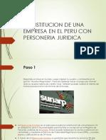 Constitucion de Una Empresa en El Peru Con