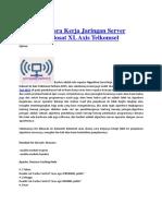 Algoritma Cara Kerja Jaringan Server Operator Indosat XL Axis Telkomsel