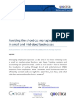 Avoiding the shoebox - managing expenses in small and medium enterprises