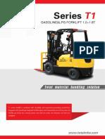TOTAL Forklift T1 Series Gasoline&LPG Forklift 1.0-1.8T
