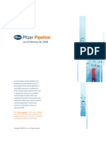 Pfizer R&D Pipeline as of February 2008