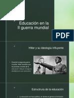 Educación en La II Guerra Mundial