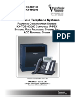 KX-TDE Product Catalog 100 200