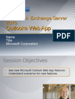 Exchange 2010 Techdeck Owa