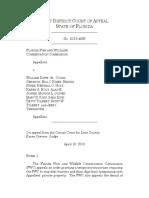 Florida Fish and Wildlife Conservation Comm'n v. Daws, No. 1D16-4839 (Fla. Dist. Ct. App. Apr. 10, 2018)