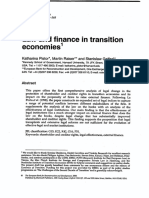 Law Finance in Transsition Economics