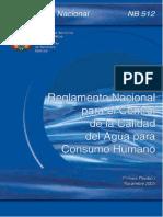 NB 512 Reglamento Control de Calidad Del Agua Para Consumo H (1)