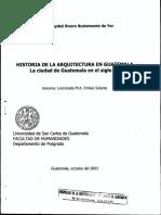 Historia Arquitectura Guatemalteca