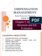 Chapter 5 - Job Based Structures and Job Evaluation.pptx