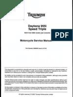 Triumph Daytona 955i and Speed Triple 955cc 2002 Service Manual