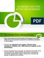 Economic Factors Affecting Business