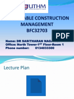 Sustainable Construction Management