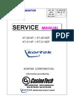 CRT Monitor KT2914F 2914DF Service Manual
