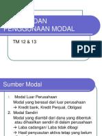 Sumber & Penggunaan Modal TM 12 & 13