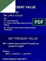 PV, NPV, B-C & IRR