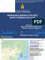 Renewable Energy for Heat Supply, Mongolian Case
