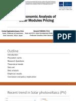 An Economic Analysis of Solar Modules Pricing