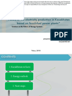 Future of the Electricity Production in Kazakhstan based on Fossil-Fuel Power