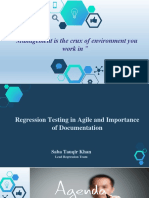 Regression Testing in Agile and Documentation