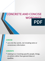 9. Concrete and Concise Wordings