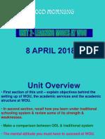 Wuc131 Tutorial 2 April 2018