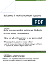 Geochemistry_04_Solutions Multicomponent System