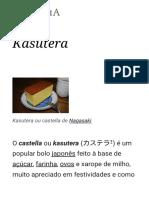 Kasutera – Wikipédia, A Enciclopédia Livre